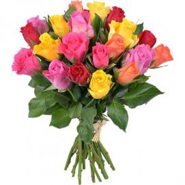 Bouquet de 20 roses Arlequin - valeur 30 €
